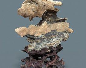 Crystal Rock Layerd Decoration Suiseki 3D model