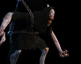 3D asset Creature Monster Animated Faceless Gravewalker