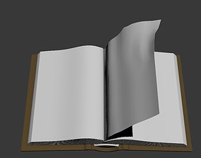 Animated book Low-poly Unity-Unreal ready 3D model