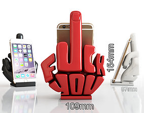 3D print model Phone stand middle finger