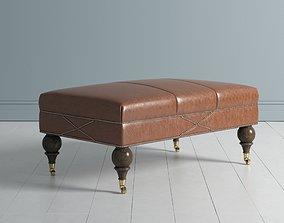 Leather Ottoman 2 3D