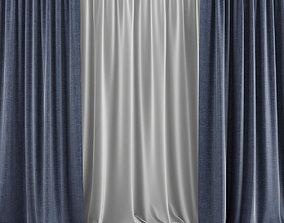 Blue Curtains 3D