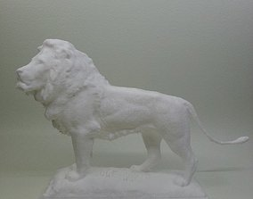 3D print model iconic lion at the steps