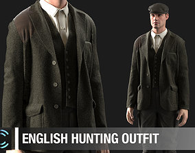 3D English hunting outfit Marvelous Designer project
