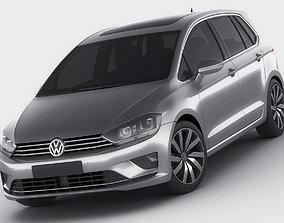 VW Golf Sportsvan 2014 3D model