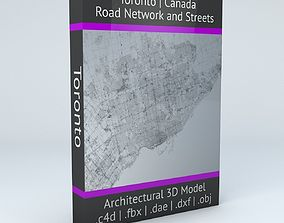 3D Toronto Road Network and Streets
