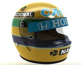 3D asset Ayrton Senna Helmet 1987