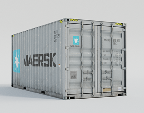 3D asset 20ft Shipping Container - Maersk