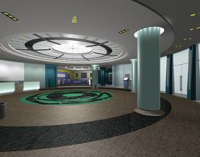 3D passage Luxury architectural Hall Lobby