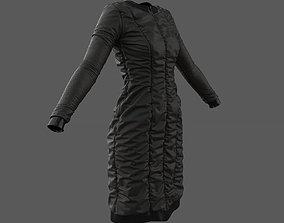 3D SciFi Puffed Dress Marvelous Designer