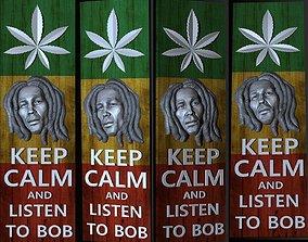 3D portrait Bob Marley