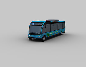 3D model Electric Bus Lowpoly 5