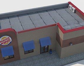 Burger king restaurant 3D model