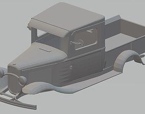 Ford Model B Pickup 1932 Printable Body Truck