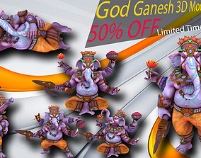 Lord Ganesh Ji - VR And AR low-poly 3D animated