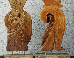 Carved Old Teak Deco 3D