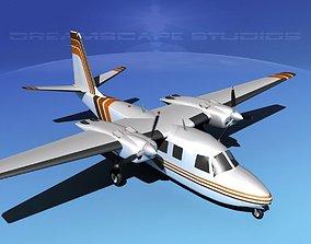 3D model Rockwell Aero Commander 560 V14
