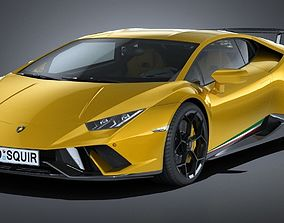 LowPoly Lamborghini Huracan Performante 2018 3D model