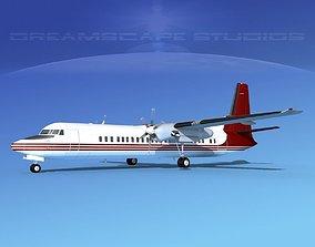 3D model Fokker F-60 Solaris Charters