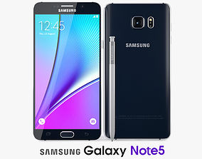 Samsung Galaxy Note 5 Black Sapphire 3D