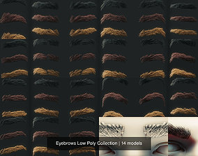 3D Eyebrows Low Poly Collection