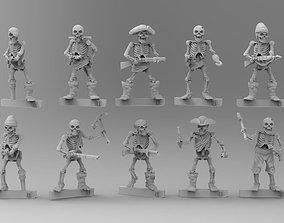 28mm Undead Skeleton Pirate Wargaming Miniatures - 3D