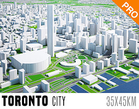 Toronto City And Surroundings Canada Low Poly VR 3D model