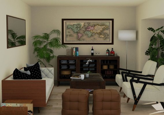 Mid-century interior Visualization / 3D rendering