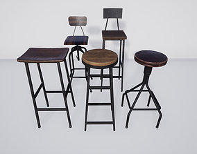 3D asset Bar Stool Pack