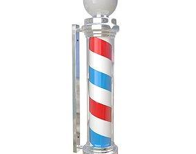 3D Barber Shop Pole