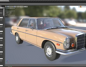 3D model Skinned Mercedes Benz 300 Sel 1972 With Cockpit