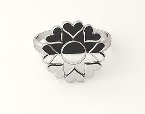 3D printable model Hearts flower ring