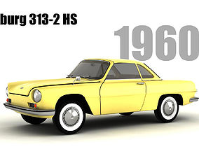 3D model Wartburg 313-2 HS
