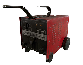 Welding Machine USED OLD Dirty 3D model low-poly