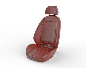Car seat vehicle 3D model low-poly