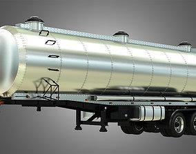 large-truck Tanker Semi Trailer 3D model