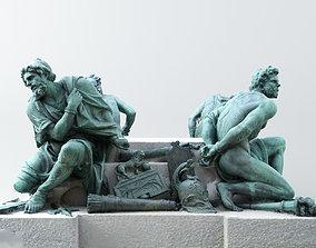 3D printable model Four Captives - Louvre
