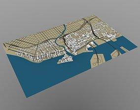 3D model Miami Cityscape