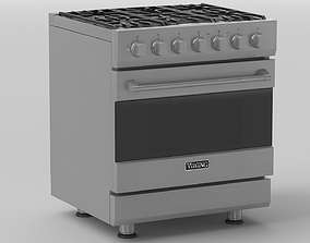 3D Viking 30in Self-Cleaning Dual Fuel Range - RVDR3302