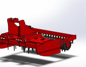 Vertical Power Harrow 3D print model