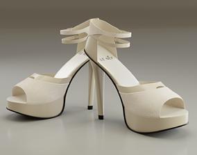 3D asset High Heeled Luxury Design Shoes