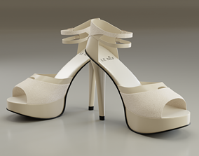 3D model High Heeled Luxury Design Shoes