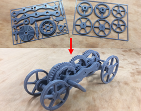 games Fully 3D-printable wind-up car gift card