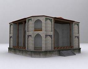 Hasht Behesht Building 3D asset