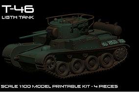 T46 Soviet WWII tank 3D printable model