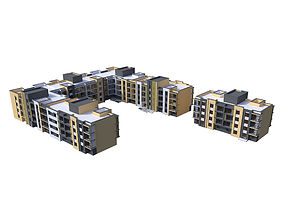 Residential building condo 3D model
