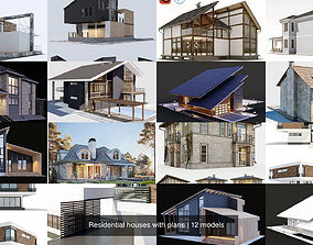 3D model Residential houses with plans