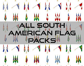 3D All South American Flag Packs