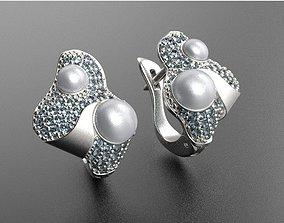 Earrings 3D print model SEA