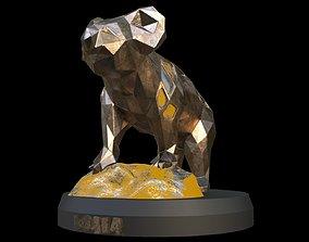 Steampunk Koala Rock 3D asset